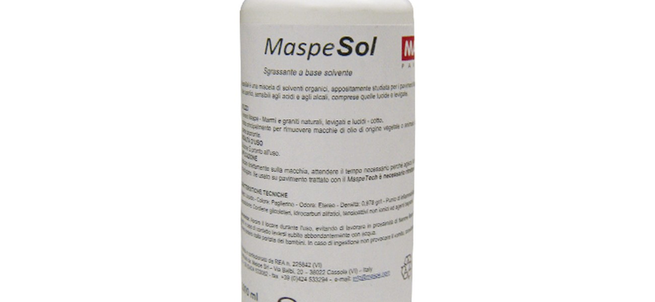 MaspeSol cleaner on solvent basis
